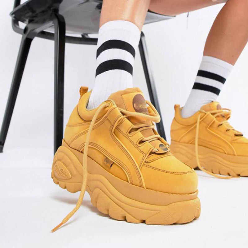 3ece35de01b2 New 2018 Thick Platform Women Sneakers Archlight Sneakers Runway Shoes  Woman Creepers Female Casual Flats Tenis