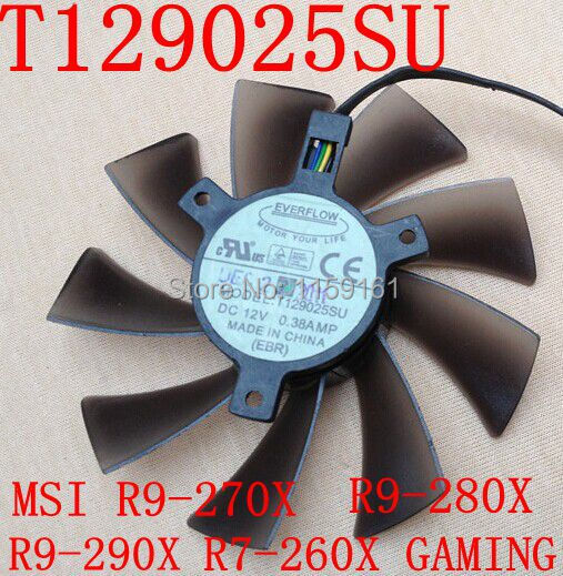 Transport gratuit T129025SU MSI R9-290X R9-280X R9-270X R7-260X GAMING grafică fan card