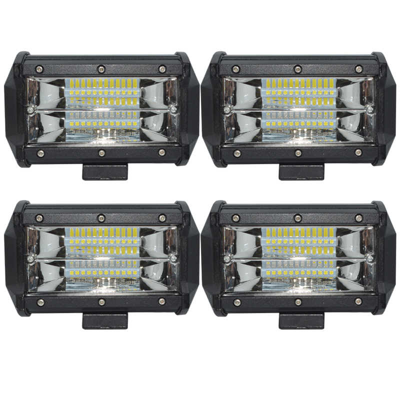 4pcs 72W Work led Drive Light bar LED offroad Working light 12V-24V Spot /Flood beam for truck boat SUV car ATV 4WD Car styling