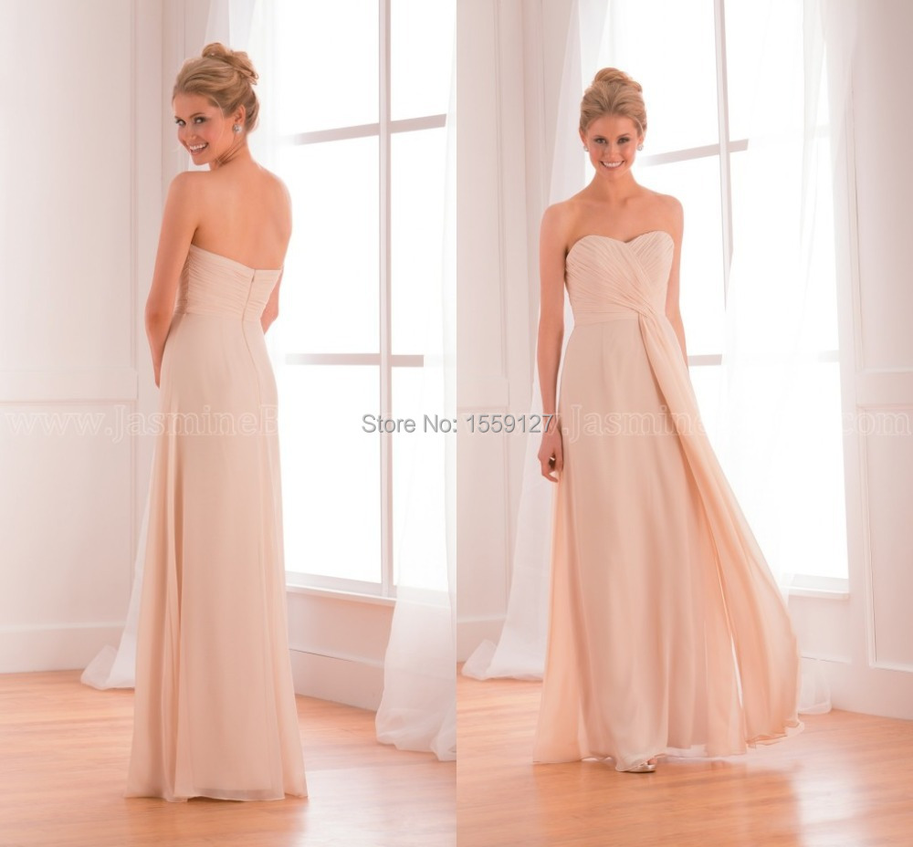 Nude color beach chiffon sweetheart pleats bodice bridesmaid nude color beach chiffon sweetheart pleats bodice bridesmaid dresses 2017 plus size long bridesmaid dress for women custom b14 in bridesmaid dresses from ombrellifo Image collections