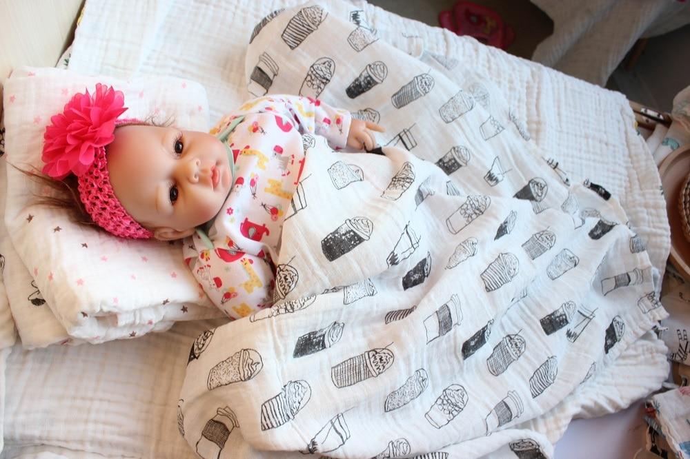 Swaddle Muślin Cotton Baby Swaddle dla noworodka Koc dla dzieci i - Pościel - Zdjęcie 1