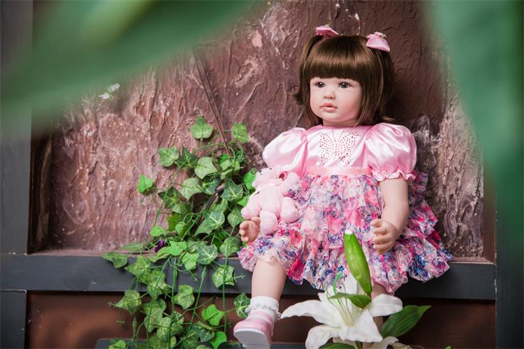 Pursue Baby Princess Doll Soft Vinyl Lifelike Baby 24 Inch Collectible Weighted Real Looking Toddler Doll for Girl Birthday Gift lifelike american 18 inches girl doll prices toy for children vinyl princess doll toys girl newest design