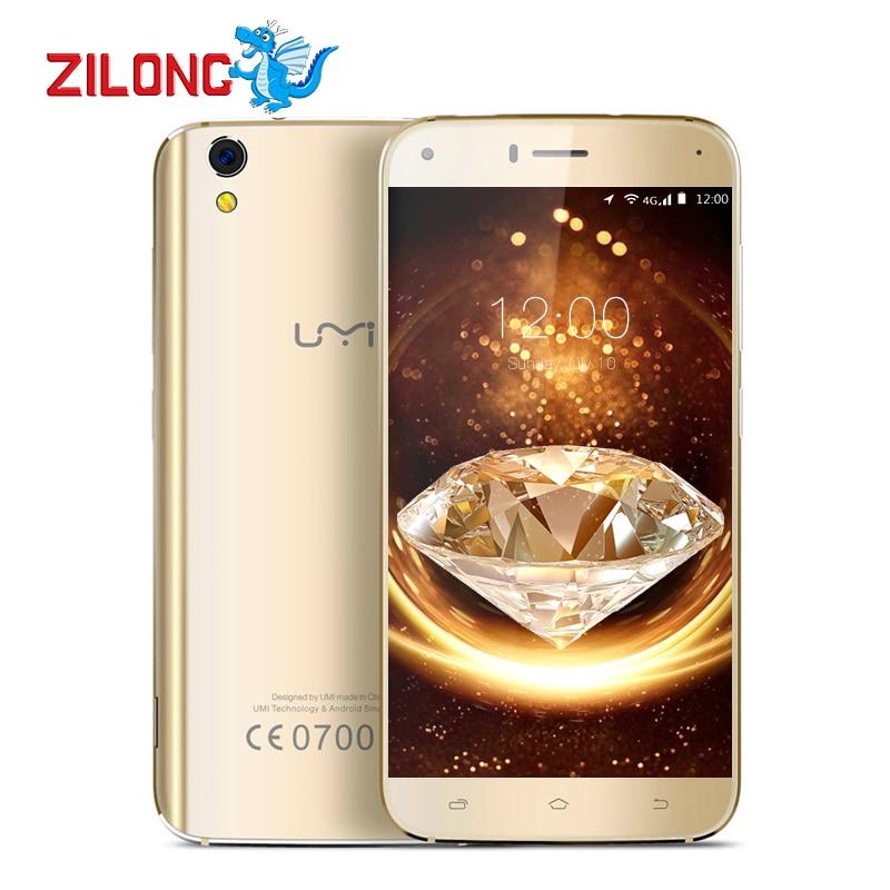 Цена за Оригинальный Umi Diamond 5.0 дюймов 4 Г Смартфон MTK6753 Окта основные Android 6.0 3 Г RAM 16 Г ROM 8MP Камера 2650 мАч Батарея телефон
