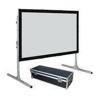 170 16:10 широкий Экран формат быстро сложить проектор проецирования Экран с обратной проекции Материал и черный бархат простыня комплекты