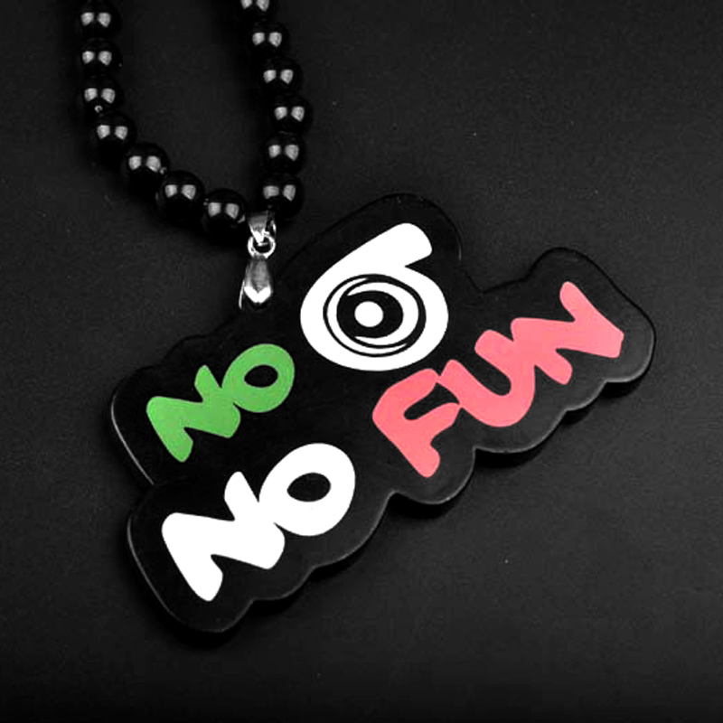 New Hip Hop No Whistle No Fun Necklace Chains For Men Long Bead Chain Pendant Necklaces Male Jewelry Bijoux Gift Collier Bijoux