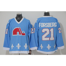 Mens Retro 1990 Quebec Nordiques PETER FORSBERG Stitched Name Number Throwback  Hockey Jersey(China) 0862ce48d