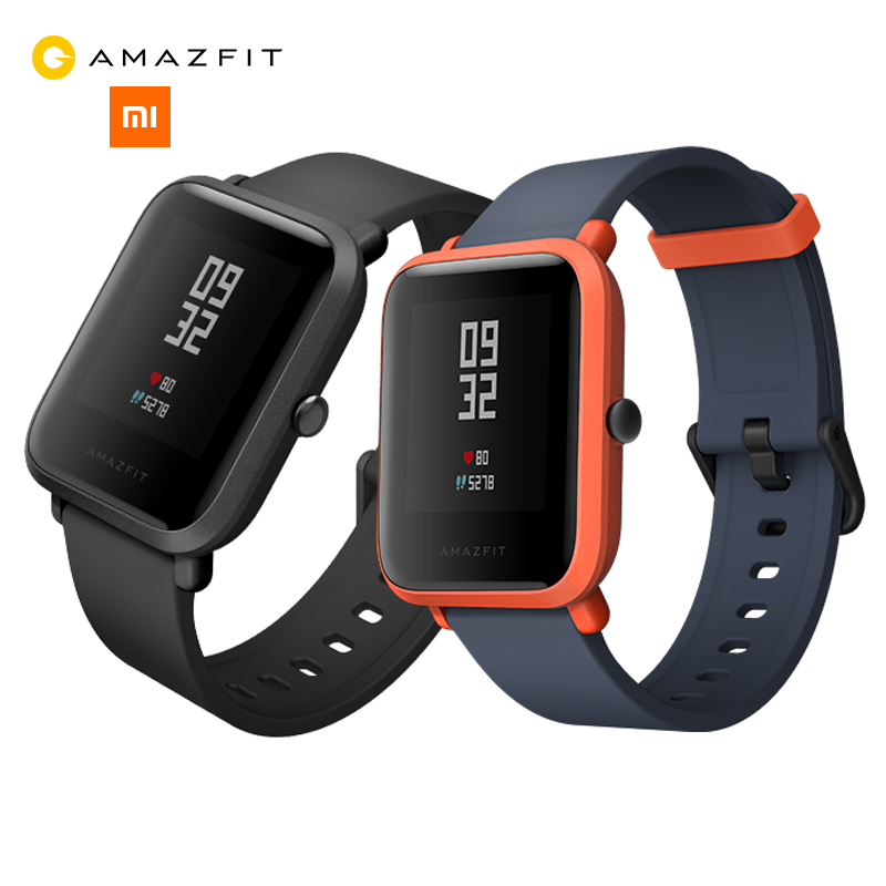 NEW Original Huami Amazfit Bip BIT PACE Lite Youth Smart Watch Mi Fit Reflection Smartwatch Baro IP68 Waterproof for Xiaomi IOS huami amazfit pace replacement strap black green