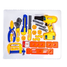 Construction Themed Set of Toys with Electric Drill