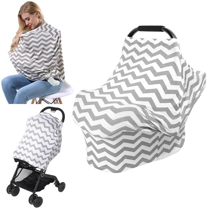 Multi-functional Elastic Outdoor Mother Feeding Maternity Breast Nursing Covers Shawl Towel Scarf Baby Stroller Sunshade Cover