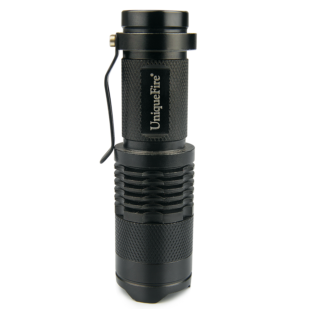 Uniquefire Led Flashlight High Quality Mini Black Brand Sk68 240lm Arduino Camping Light With Dimmer Waterproof 3 Modes Zoomable Torch Penlight For