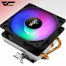 AIGO CPU cooler Cooling 2 heatpipe CPU fan 3Pin PC Cooling 90mm fan Radiator heatsink  for LGA/775/1158/1366/AM4/AM3/AM2+/AM2