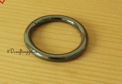 metal O rings O ring purse ring connector gunmetal 32 mm 1 ...