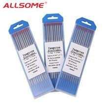 ALLSOME Вольфрам электроды сварочные электроды 1,0 1,6 2,0 2,4 3,0 3,2 4,0 мм WT20 WC20 WL15 WZ8 WP WY20 Tig сварки стержней HT2457-2498