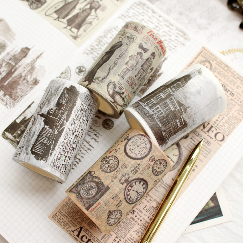 6/3cm Vintage Masking Tape Gift Wrapping material DIY Scrapbooking Diary Album Paper Stickers Craft Washi Tape 6 3cm vintage masking tape gift wrapping material diy scrapbooking diary album paper stickers craft washi tape