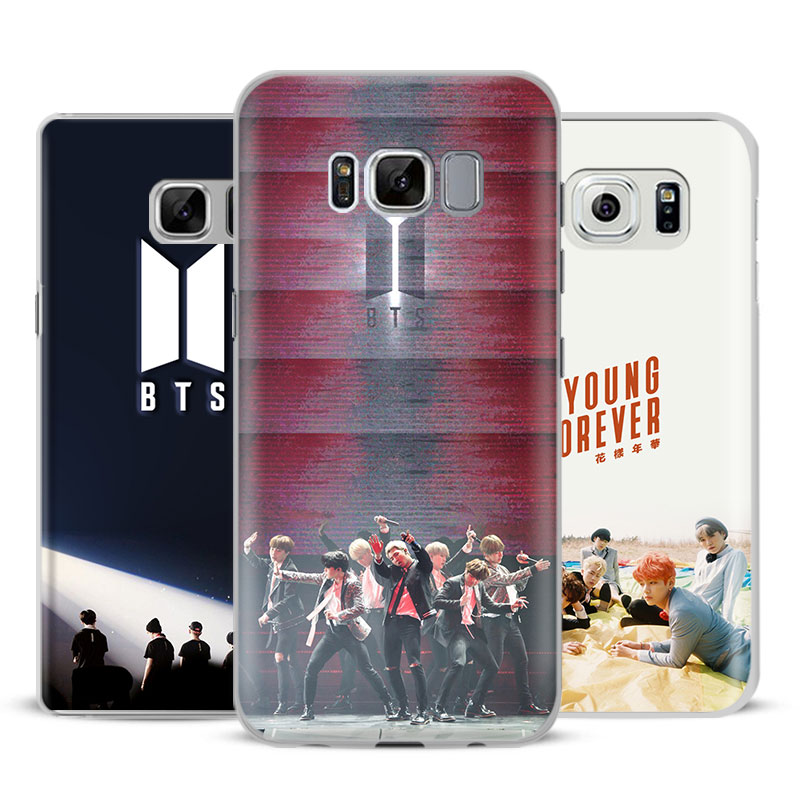 Bts Bangtan Boys Coque New Logo Case Cover Clear For Samsung Galaxy S9 S8 Plus S7 S6 Edge S5 S4 Mini Note 8 9 Coque S8 S9