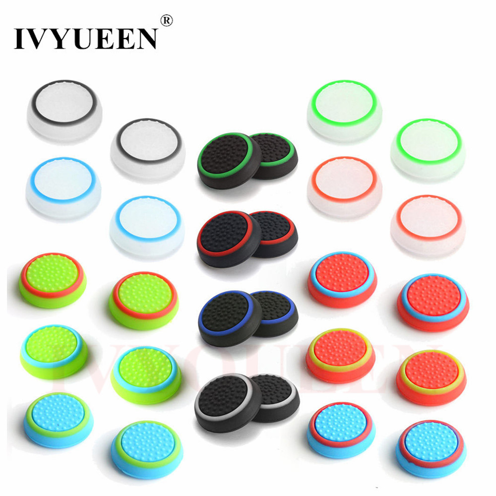 4 pcs Silicone Analog Thumb Stick Grips Cover for PlayStation 4 PS4 Pro Slim for PS3 Controller Thumbstick Caps for Xbox 360 One jiahui usb female to ps2 male converter adapter for usb mouse keyboard black