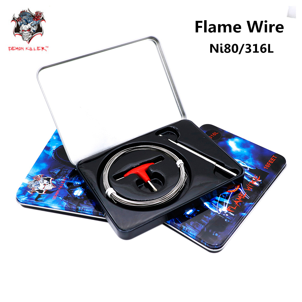Original Demon Killer Flame Heating Wire Ni80 & SS316L Material For E Cigarette RDA RBA RTA Atomizer Vape DIY Prebuilt Coil Kit