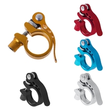 1 Pc  Aluminum Alloy Seatpost Clamp Quick Release MTB Cycling 28.6 31.8 34.9 Seat Bike Accessory