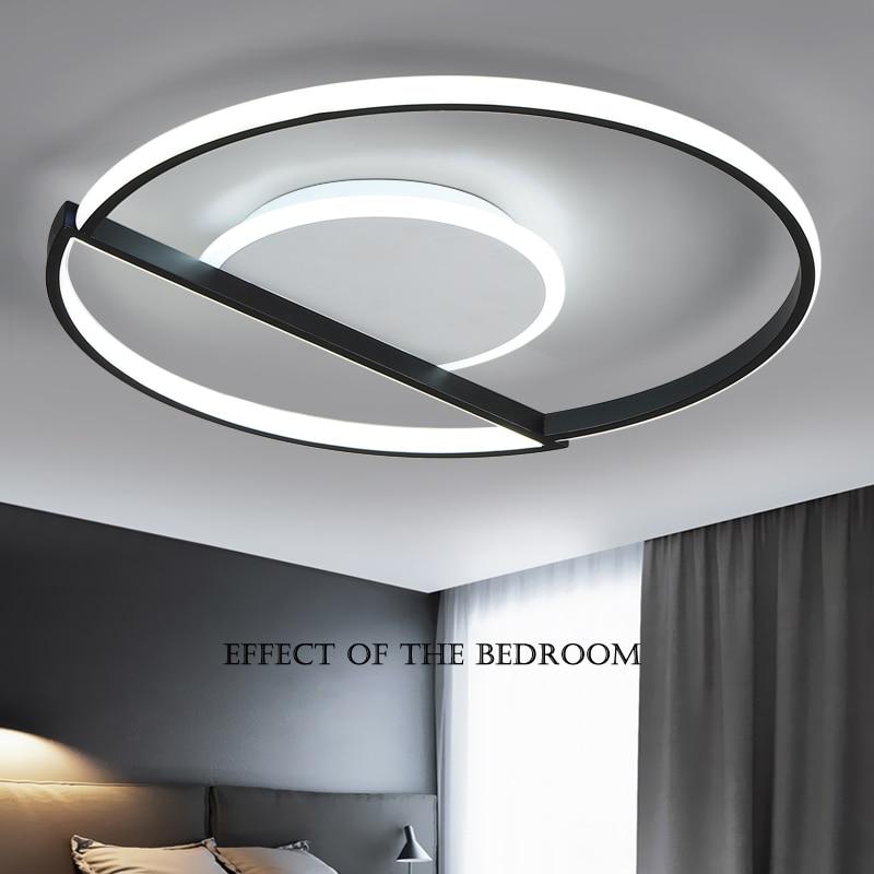 White Black frame Modern Led chandeliers ceiling For Living room ledlamp Dining Bedroom kitchen modern chandelier
