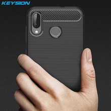 KEYSION Phone Case for for ASUS Zenfone MAX M1 ZB555KL Carbon Fiber Soft TPU Silicone Brushed Anti-knock Back Cover for ZB555KL(China)
