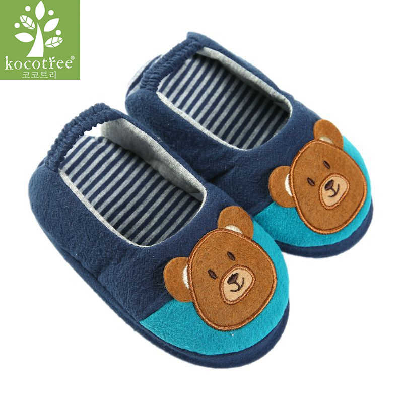 Kocotree Spring Autumn Animal Kids Living House Shoes Children Boys Girls Cotton Slipper Comfortable Indoor Floor Shoes