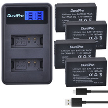 4pc LP-E12 LP E12 LPE12 Rechargeable Camera Battery + LCD Dual Charger for Canon Rebel SL1 100D EOS-M EOS M2 EOS M10 Camera