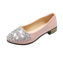 Spring Autumn Women Ballet Flats Shoes Pointed Toe Slip-On Rhinestone Woman Single Shoes Ladies Comfortable Zapatos Mujer