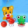 Superior de La Venta de la Historieta Encantadora Niños Deportes de Interior Colgando Aro De Baloncesto Aro De Baloncesto Portátil de Plástico con Bola de Juguetes de Los Niños Establecidos
