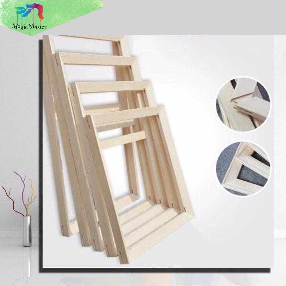 Kunst Quadrat Künstler Holzrahmen Bord Holz Farbe Grundiert Für ...