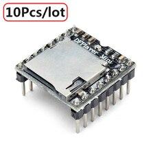 10 Pçs/lote DFPlayer Mini MP3 Módulo Jogador MP3 Voz Módulo para DIY DIY Apoio TF Cartão e Disco USB Frete Grátis