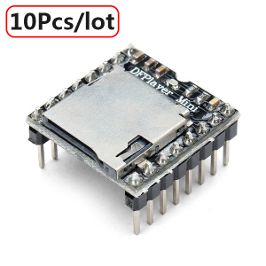 Image 1 - 10Pcs/lot DFPlayer Mini MP3 Player Module MP3 Voice Module for DIY DIY Supporting TF Card and USB Disk Free Shipping