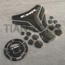 Мотоцикл для Honda CBR cbr CB аппликация, наклейка, высокое качество, 3D Смола, черная углеродная пайка, топливный бак, накладка и газовая крышка
