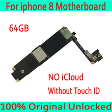 NO iCloud For iphone 8 4.7inch Motherboard without Touch ID+Chips for iphone 8 Mobile phone Mainboard 64GB Original unlocked