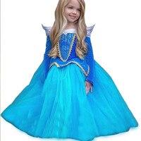 Tulle Tutu Princess Dress Birthday Hot Kids Girl Beauty Princess Fancy Dress Xmas Halloween Costume Elsa