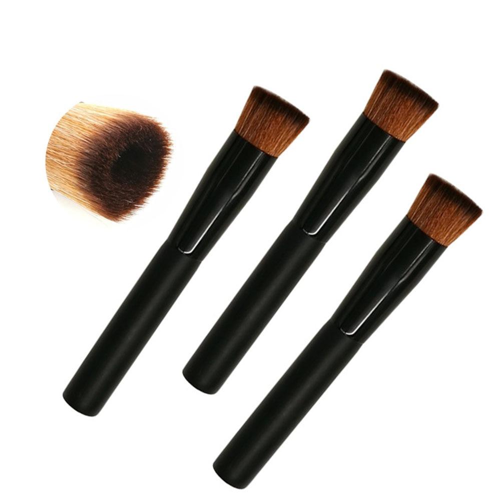 Portable Makeup Brush Wood Handle Contour Foundation Powder Liquid Cream Brushes Cosmetics Tool 789(China)