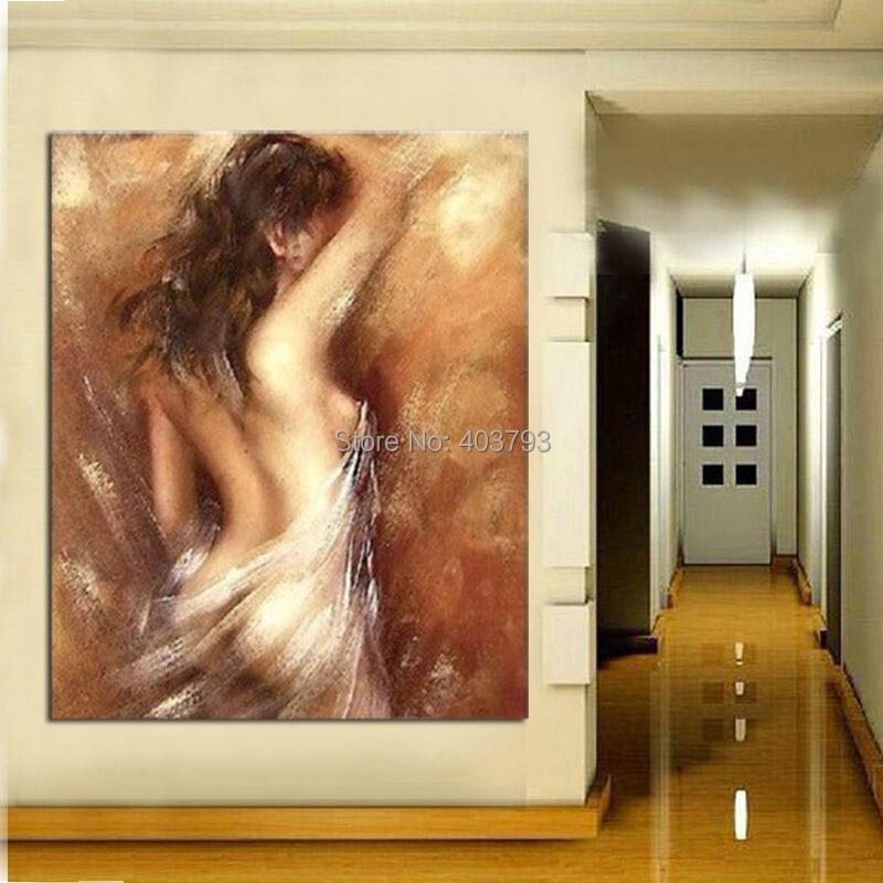 ABSTRATO MODERNO ENORME PAREDE DECORAM CANVAS ART PINTURA A ÓLEO: menina nua (sem framed)