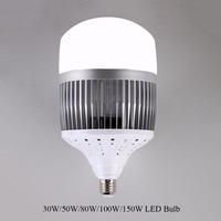 Высокая Мощность 30 Вт 50 Вт 80 Вт 100 Вт 150 Вт светодиодный лампы светильник E40 E27 светодиодный лампа высокой яркости светодиодный для склада инж...