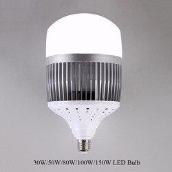 Светодиодная лампа E40 E27 высокой мощности, 30 Вт, 50 Вт, 80 Вт, 100 Вт, 150 Вт