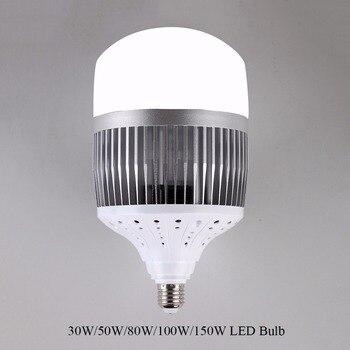 Alta Potência 30 W 50 W 80 W 100 W 150 W CONDUZIU a Luz de Lâmpada E40 E27 220 V LEVOU lâmpada de Alta Brilhante LED para Armazém Praça Engenheiro