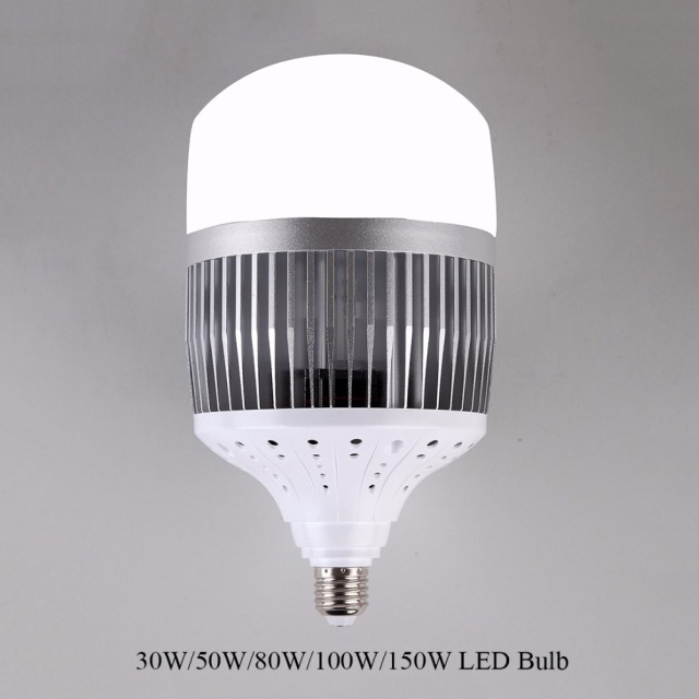high power 30w 50w 80w 100w 150w led bulb light e40 e27 220v led lamp high bright led for. Black Bedroom Furniture Sets. Home Design Ideas