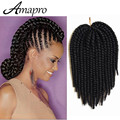 Amapro Hair Products Senegalese Twist Crochet Synthetic Braiding Hair 14 Inch Havana Mambo Crochet Twist Braids Hair Extensions