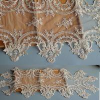 golden Lace Trim Tablecloth Handmade Sheet Doilies Alencon Lace Mat Top Cover