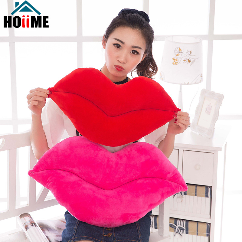Confident Red Lips Plush Pillow Creative Sexy Stuffed Plush Toys Cartoon Home Decor Pillows Girl Valentines Day Gifts For Lover J01501 Sale Price Toys & Hobbies