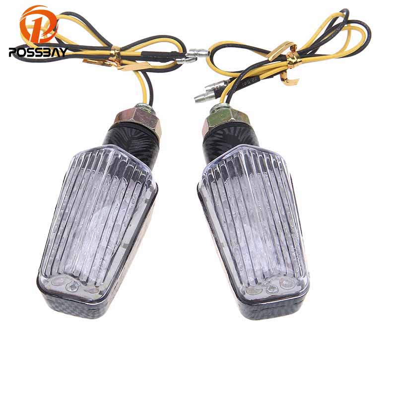 POSSBAY LED Motorcycle Turn Signals Blinker Light Scooter Indicator Parts Universal Fit for Honda Harley Motorbike Flasher Lamp