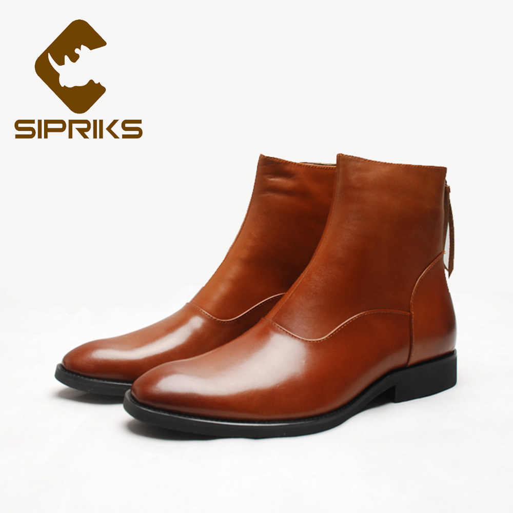 16a43fb2bab Detail Feedback Questions about Sipriks Leather Black Ankle Boots ...