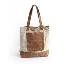 Vendange Original design cowleather join flax forest wind retro shoulder bag/ leisure shopping leather handbag 2345