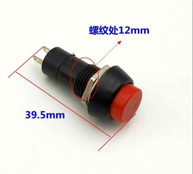 PBS-11B runde momentary kleine taste schalter montage loch 12 MM Kunststoff Push Button Switch 3A AC250V