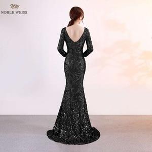 Image 4 - נובל וייס חדש הגעה שמלה לנשף נצנצים עמוק V צוואר סקסי ירך גבוהה חרכי Slim פשוט מחוך לוקסוס בת ים שמלה