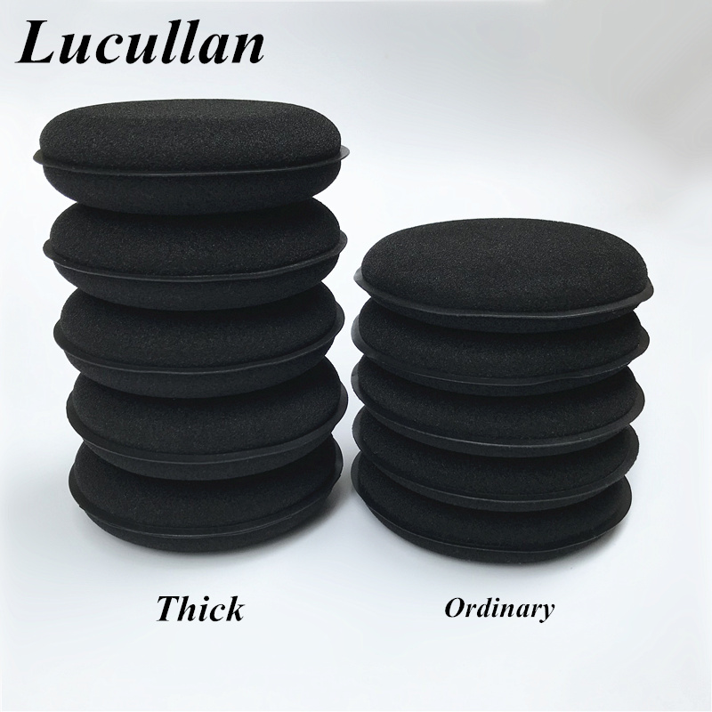 Lucullan 5 Pack Ultra Thick 30mm High Density Foam Sponge  Auto Detailing Applicator Pad Best For Waxing And Polishing