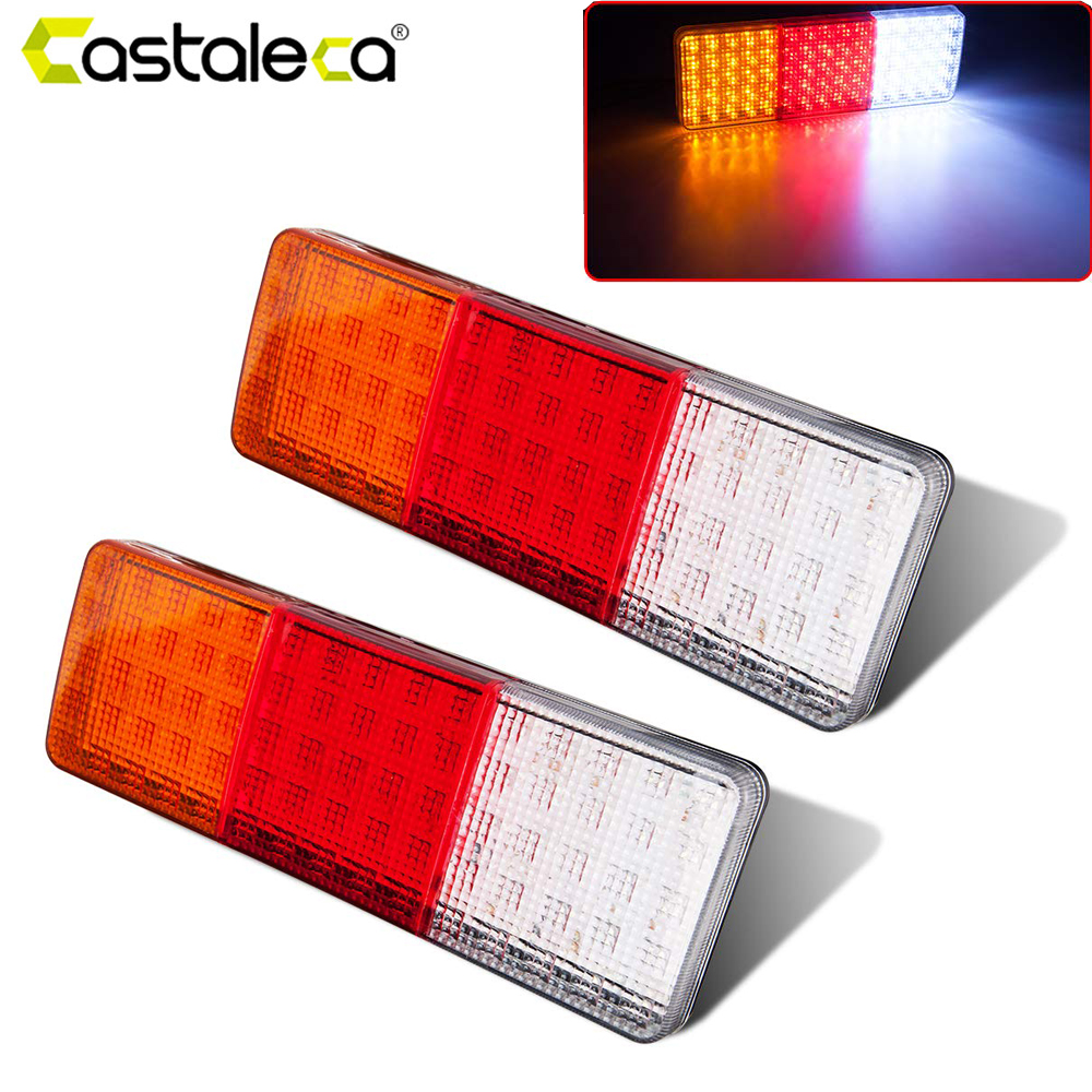 2x12v Iron Frame Net Cover Car Truck Led Rear Tail Light Warning Lights Turn Signal Rear Lamp For Trailer Caravans Ute Campers Discounts Price Automobiles & Motorcycles Truck Light System